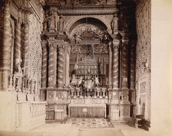 Altar and tomb of St Francis Xavier, Church of Bom Jesus, Goa.